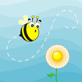Cute bee Royalty Free Stock Photos