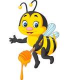 Cute bee holding honey Stock Image