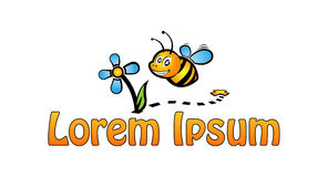Cute bee icon Stock Images