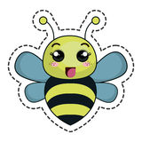 Cute bee kawaii character Royalty Free Stock Photography