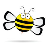 Cute bee vector illustration Royalty Free Stock Photo