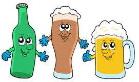 Cute beer collection Royalty Free Stock Images