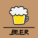 Cute beer hand-drawn style, vector illustration. Cute beer hand-drawn style,drawing,hand drawn vector illustration Royalty Free Stock Image