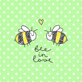 Cute bees couple Royalty Free Stock Photography