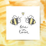 Cute bees couple Stock Images