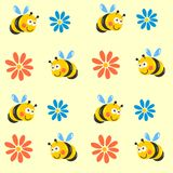Cute bees Royalty Free Stock Images