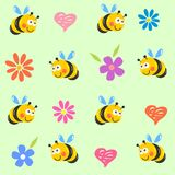 Cute bees Royalty Free Stock Photo