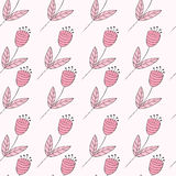 Cute bellflowers seamless pattern.  Royalty Free Stock Photo