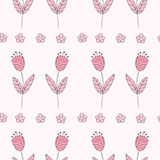Cute bellflowers seamless pattern. Vintage background. Stock Image