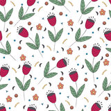 Cute bellflowers seamless pattern. Vintage background. Stock Photography