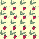Cute bellflowers seamless pattern. Vintage summer background. Stock Photos