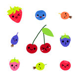 Cute Berries Character vector collection Stock Photo