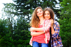 Cute BFF Country Girls Stock Images