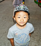 A cute bhutanese girl Royalty Free Stock Photos