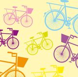 Cute Bicycle. Over beige background. vector illustration Stock Image