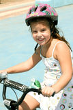 Cute bicycle rider Royalty Free Stock Photos