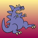 Cute big angry dinosaur. Vector illustration. Royalty Free Stock Images