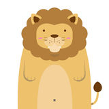 Cute big fat lion Royalty Free Stock Photography