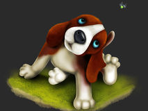 Cute bigle puppy Royalty Free Stock Image