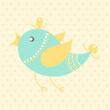 Cute bird, cartoon style Stock Photos