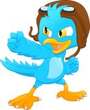 Cute bird cartoon royalty free illustration