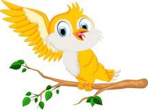 Cute bird cartoon for you design Royalty Free Stock Photography