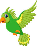 Cute bird flying. Illustration of Cute green bird flying Stock Images