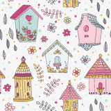 Cute Bird House Background Royalty Free Stock Images