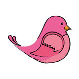 cute bird icon Stock Image