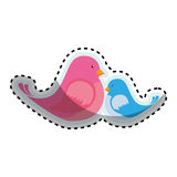 Cute bird icon Royalty Free Stock Image