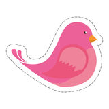 Cute bird icon Royalty Free Stock Photography