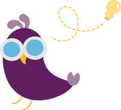 Cute Bird Idea. Illustration of a cute bird having an idea Royalty Free Illustration