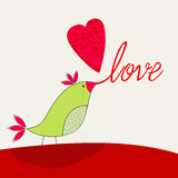 Cute bird in love Stock Photography
