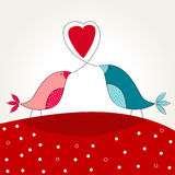 Cute bird in love Royalty Free Stock Image