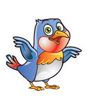 Cute Bird Mascot Royalty Free Stock Photography