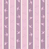 Cute bird seamless pattern in pale shades Royalty Free Stock Image