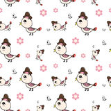 Cute of bird seamless pattern vector Royalty Free Stock Photo