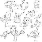 Cute bird set Royalty Free Stock Images