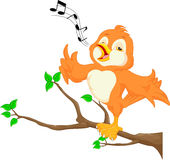 Cute bird singing Royalty Free Stock Photos