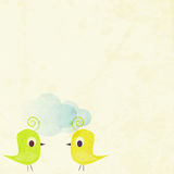 Cute birds background Royalty Free Stock Photos