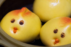 Cute birds baozi chinese steamed buns. In Chengdu, China Royalty Free Stock Images