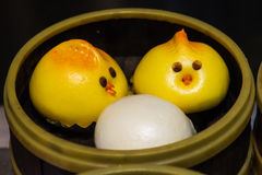 Cute birds baozi chinese steamed buns. In Chengdu, China Stock Photo