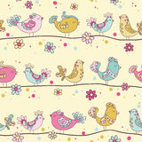 Cute Birds and Birds Houses Background Royalty Free Stock Photography