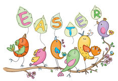 Cute birds for Easter's Royalty Free Stock Photos