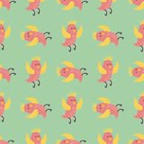 Cute birds fly wings seamless pattern vector illustration cartoon colorful Stock Photo