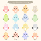 Cute birds icons Royalty Free Stock Photography