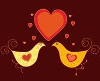 Сute birds in love Royalty Free Stock Photo