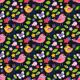Cute birds seamless pattern Royalty Free Stock Image