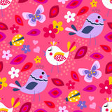 Cute birds seamless pattern Stock Photos