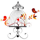 Cute birds singing Stock Photo